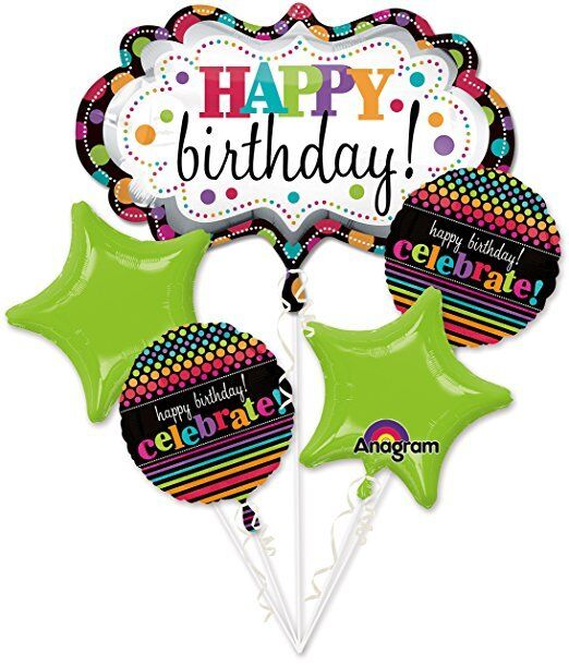 Anagram International Happy Birthday Marquee Bouquet Multicolor For Sale Online