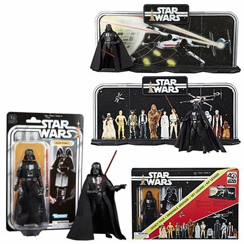 Star Wars schwarz Series 40th Anniversary Legacy Pack with Darth Vader - New
