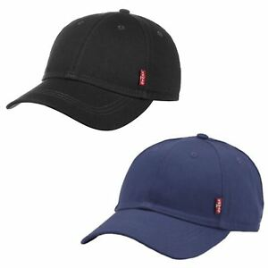cc11e818d8d Levis Classic Twill Red Tab Baseball Cap in Navy Blue   Black