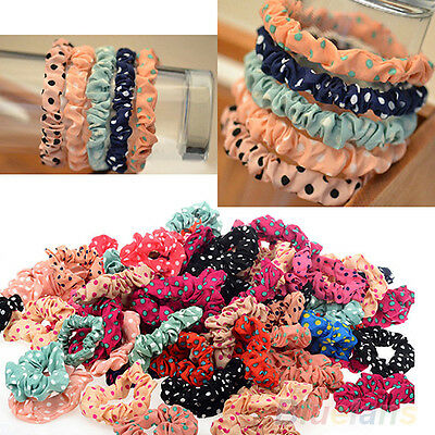 10pcs Lots Cute Sweet Girls Elastic Hair Band Ponytail Holder Hairband Gift B24U