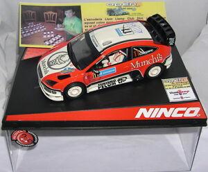 Ninco 50469 Slot Car Ford Focus Wrc Open Catalunya 2008 Pilotes de l'onde de lumière