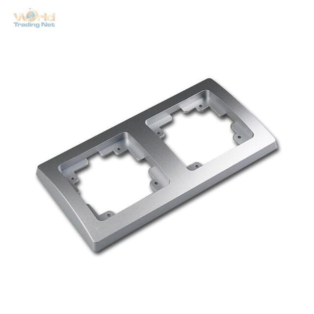 Delphi Rahmen 2-fach Silber Einbaurahmen Doppelrahmen Abdeckrahmen 40050019