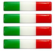 4 x Italien Flaggen Resin 3D Silikon Aufkleber Tablet Laptop Auto Handy IT