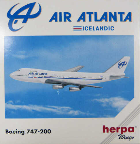 Boeing 747-200 air atlanta Icelandic Herpa 502528 1:500