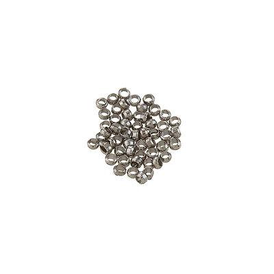 L76//4 Platinum Colour Brass Crimp Beads Jewellery Making 3mm PK50
