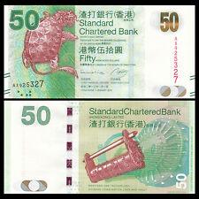 HongKong Hong Kong 50 Dollars, SCB, 2013, P-298, UNC