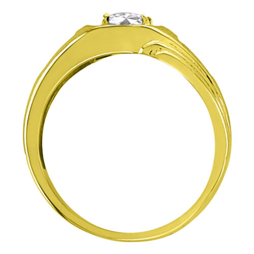 Details about  /Sterling Silver or Yellow Gold Plated Silver White Topaz /& Diamond Ring