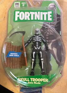 4 Fortnite Skull Trooper Solo Mode Figure New Fortnite Solo Mode Core Figure Pack Skull Trooper Action Figure Ebay