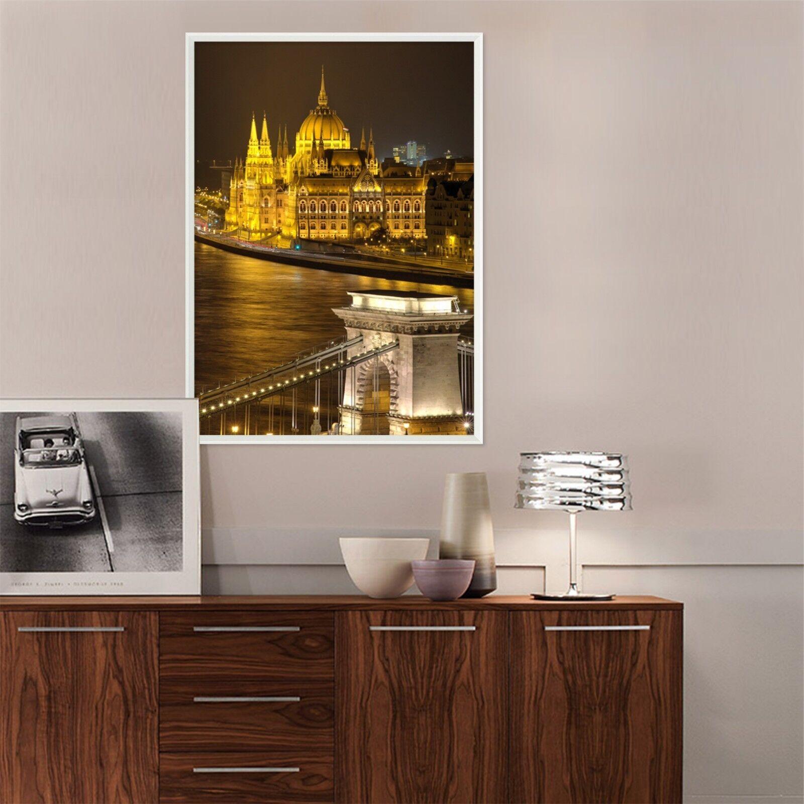 3D Europe Night View 3 Framed Poster Home Decor Print Painting Art AJ WALLPAPER