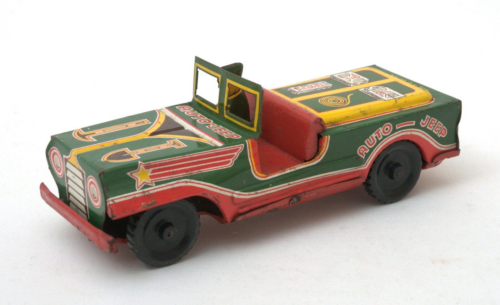 Wells Brimtoy Tinplate Friction Drive Auto-Jeep
