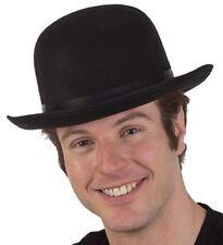 A792 Bowler Derby Felt Black Hat Charlie Chaplin 1950s 1960s Party Dance Costume