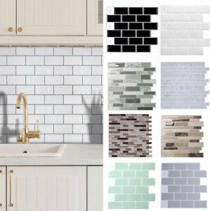 Self Adhesive Kitchen Wall Tiles Bathroom Mosaic Brick Sticker Peel Stick Uk Ebay