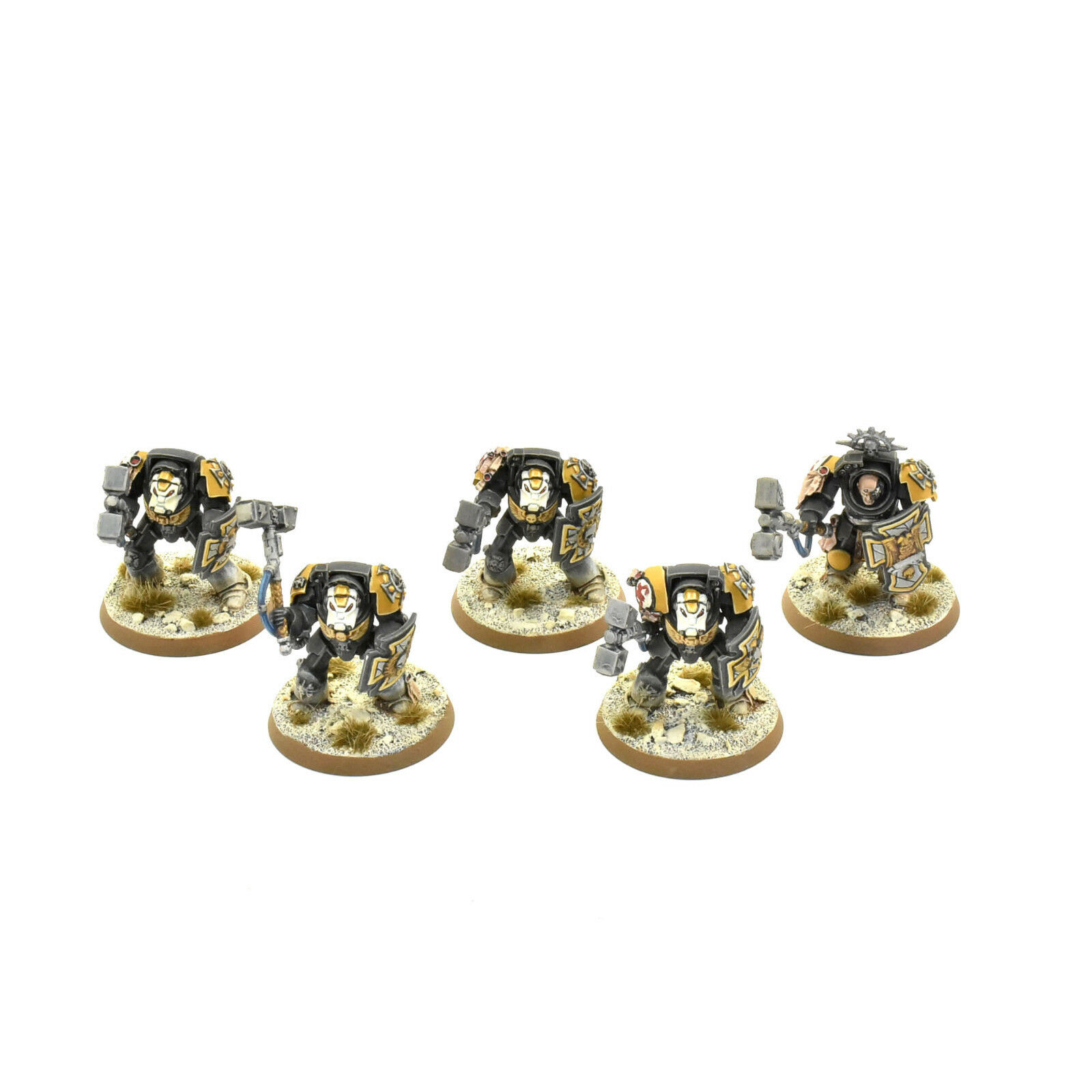 SPACE MARINES 5 Terminator squad close combat PRO PAINTED Red Scorpions Army
