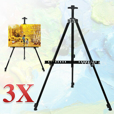 X3 Easel Display Stand Drawing Board Tripod Adjustable Artist Sketch Painting