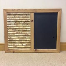Cork and chalk notice board with re-claimed pine bevelled edged Frame