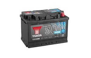 Yuasa-AGM-Start-Stop-Plus-Battery-70Ah-760CCA-YBX9096-3-Year-Warranty