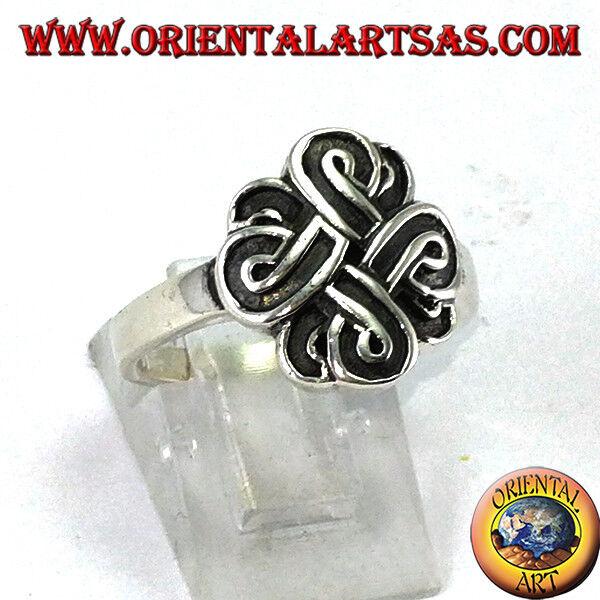 925 silver Ring ‰ mit der Knoten des San giovanni oder Knoten BOWEN