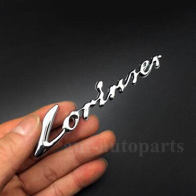 Lorinser Badge Rear Trunk Car Emblem Decal Sticker