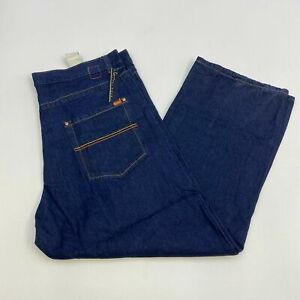 NWT-Kani-Gold-Denim-Jeans-Mens-42X32-Blue-Straight-Leg-Cotton-Blend-Medium-Wash