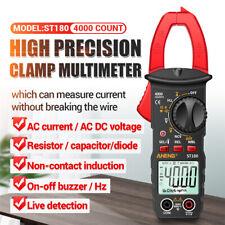 Digital Multimeter Tester Ac Volt Amp Clamp Meter Auto Range Lcd Handheld Us