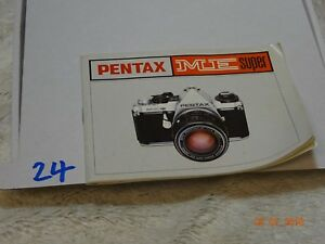 pentax me super instruction manual more camera books user guides rh ebay co uk Pentax Cameras Pentax Cameras