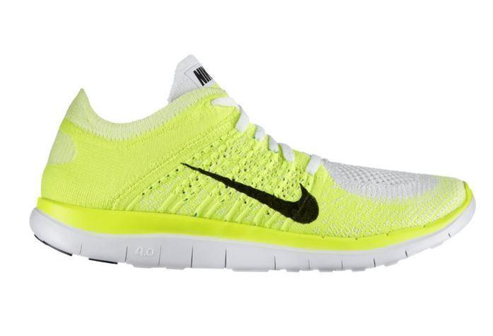 Nike Free 4.0 Flyknit WMNS; 37,5 Gr 37,5 WMNS; white/volt/blue glow 631050 103 6356ba