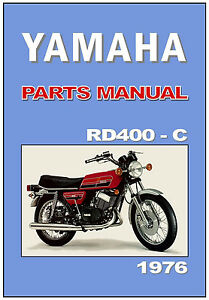yamaha parts manual rd400 rd400c 1976 usa canada replacement spares rh ebay com Yamaha USA Customer Service Yamaha Receiver USA