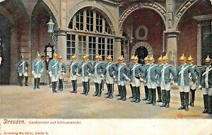 DRESDEN-GERMANY-GARDEREITER-SCHLOSSWACHE-WW1-MILITARY-POSTCARD