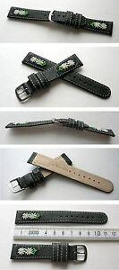 Edelweissuhrband-Schwarz-18mm-zum-Beispiel-fuer-Michel-Jordi-u-andere-Trachtenuhr