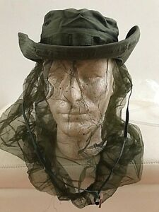 3058a173318 U.S. Military Vietnam era Olive Drab Boonie Hat w Insect net.Dated ...