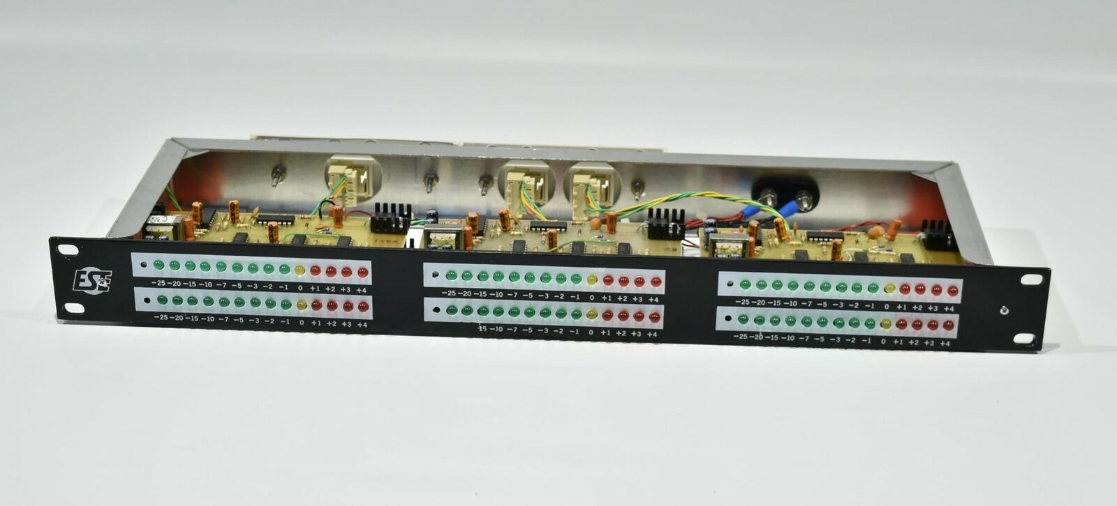 ESE ES-215P6 Triple Stereo Audio Level Indicator - Rackmount