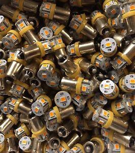 3-BAYONET-ORANGE-LED-LAMP-6-3V-AC-KR-6050-6650-VINTAGE-RECEIVER-METER-DIAL