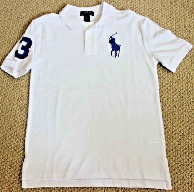Polo Ralph Lauren Shirt 10 12 M Big Pony S/S NWT Boy's White