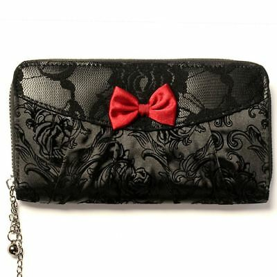 Gothic Punk Skeleton Black Women/'s Wallet Purse By Banned Apparel