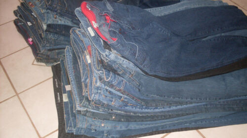 25 pairs of Blue Ladies Jeans Bulk Sale many brands mixed Lots /& Sizes EUC
