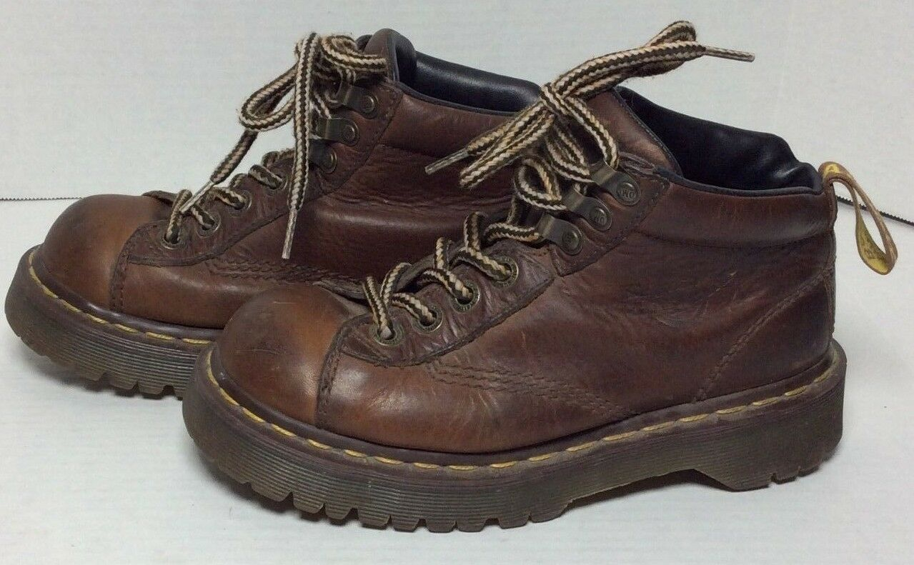 Dr Martens 8287 Womens Brown Ankle Work Boots US 6 Made in England Docs