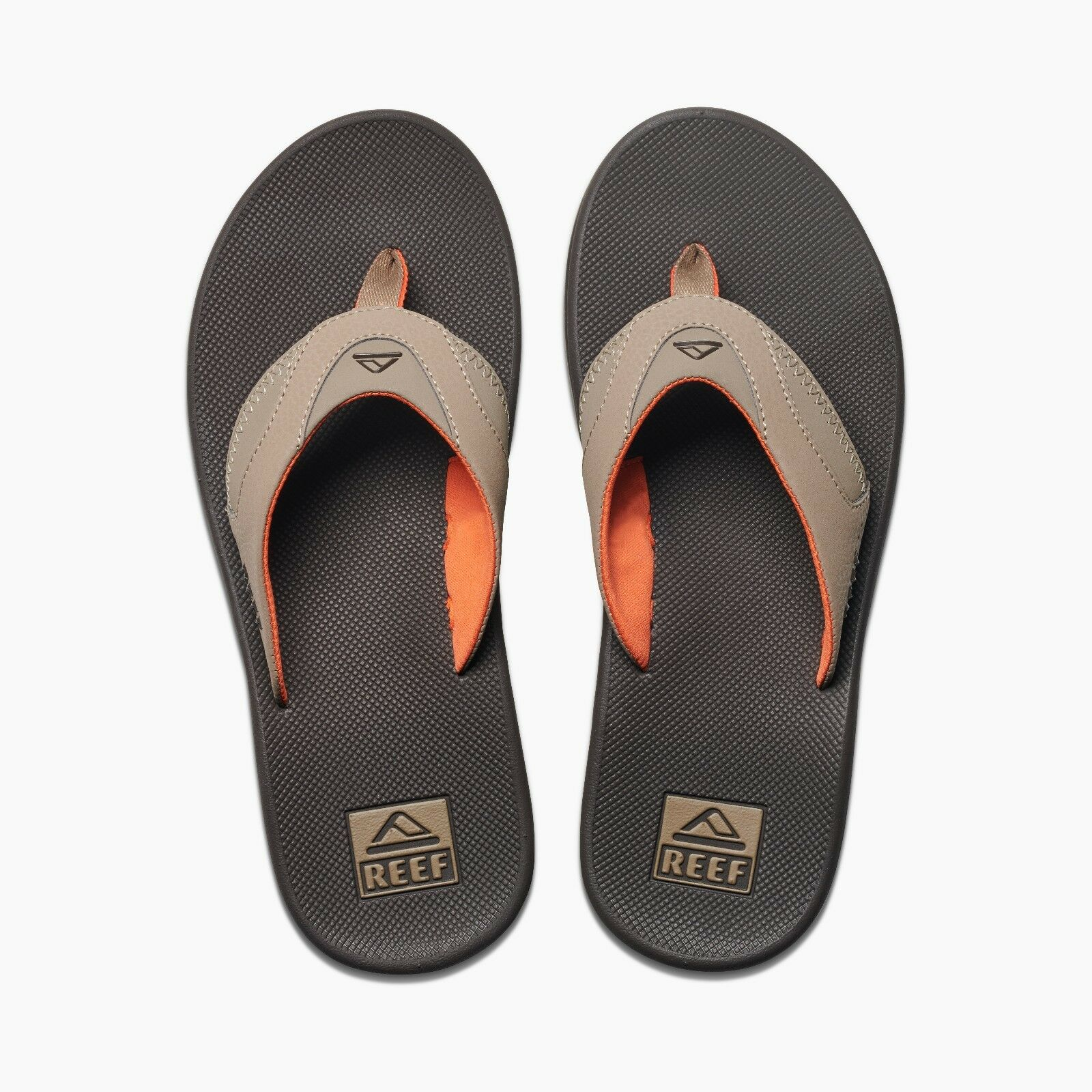 REEF MENS FLIP FLOPS.FANNING BROWN ARCH SUPPORT THONGS SANDALS SHOES 8S 26 BWO