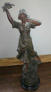 """""""allegresse"""" Good Condition Loyal French Sculpture By X Raphanel"""