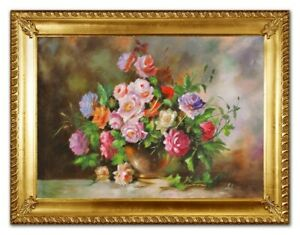 Oil-Painting-Plant-Real-Hand-Painted-Made-with-Frame-Pictures-G96381