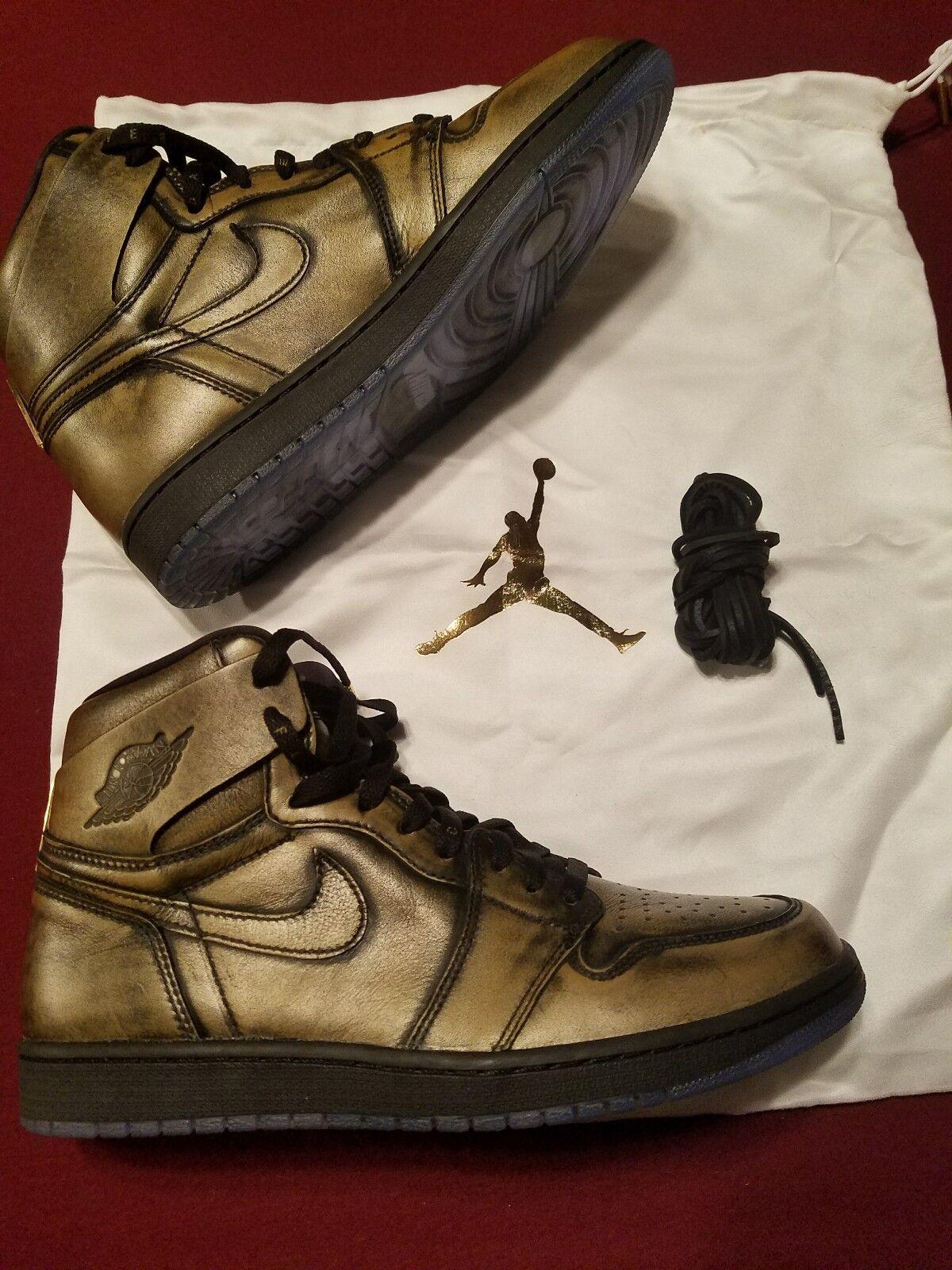Mens Air Jordan 1 Ret High OG Wings AA2887-035 Black/Black Special limited time