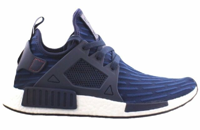 Adidas NMD_XR1 PK Navy Navy Red Stitching BA 7215 Prime Knit (451) Men's Shoes