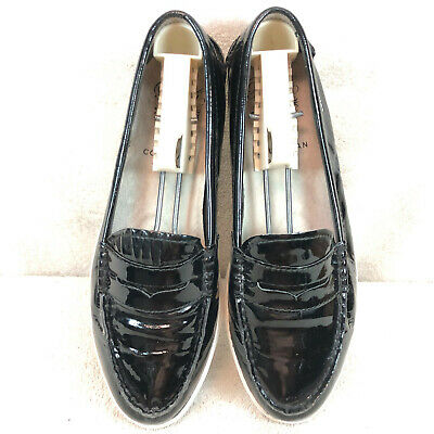 Cole Haan Pinch Maine Classic Black Patent Leather Penny ...