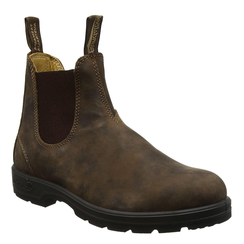 Blundstone 585 Rustic Braun Unisex Leder Chelsea Ankle Stiefel