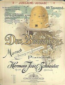 034-Das-Bienenhaus-034-Marsch-von-H-J-Schneider-Op-124-alte-Noten-uebergross