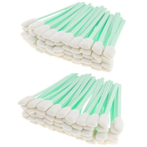 100xSolvent Cleaning Foam Swabs For Roland Parts Mimaki Mutoh InkJet Printer