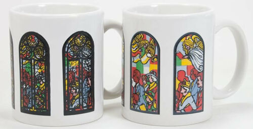 Wondermugs Color Changing Stained Glass with Angels Coffee Cup Mug