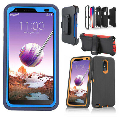 cheap for discount 624db 2da27 For LG Stylo 4 / Stylo 5 Plus Case Shockproof Belt Clip Fit Otterbox  Defender | eBay
