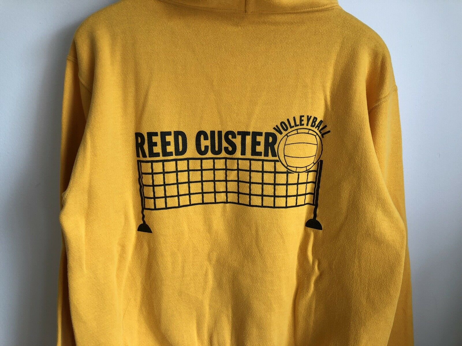 VTG 70s Russell Athletic Gold Yellow Hoodie Sweat… - image 6
