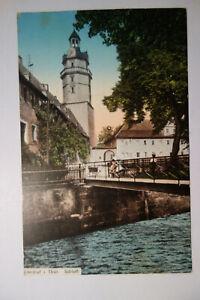 Ansichtskarte-Thueringen-Ohrdruf-Schloss-Bruecke-Feldpost-1915