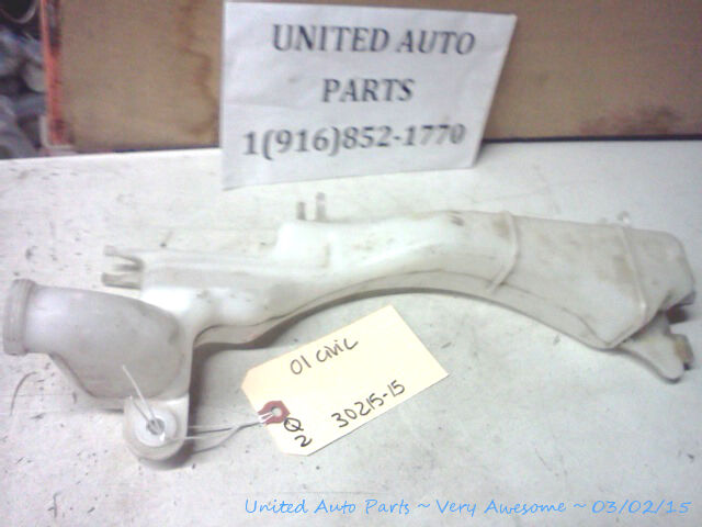 01 05 honda civic oem radiator coolant overfill reservoir bowl bottle ebay ebay